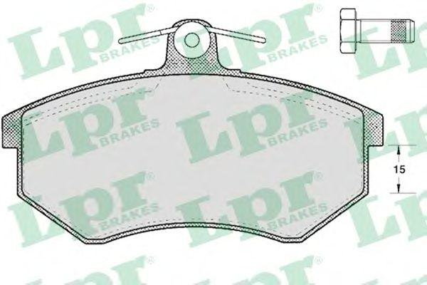 Комплект тормозных колодок 05P299