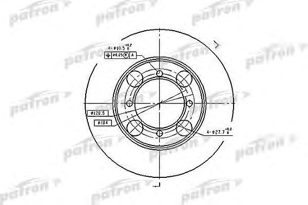 Диск тормозной передн HYUNDAI: COUPE 96-02, LANTRA I 90-95, LANTRA II 95-00, LANTRA II Wagon 96-