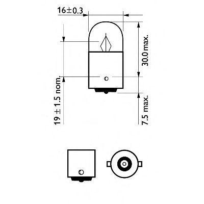 12821LLECOB2_к-кт ламп! (R5W) 5W 12V BA15S LongLifeEcoVision (2шт. в блистере)\