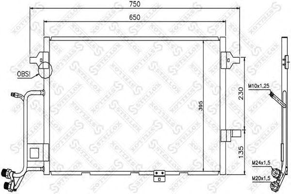 10-45204-SX_!радиатор конд.\ Audi A6 2.5TDi 97-05
